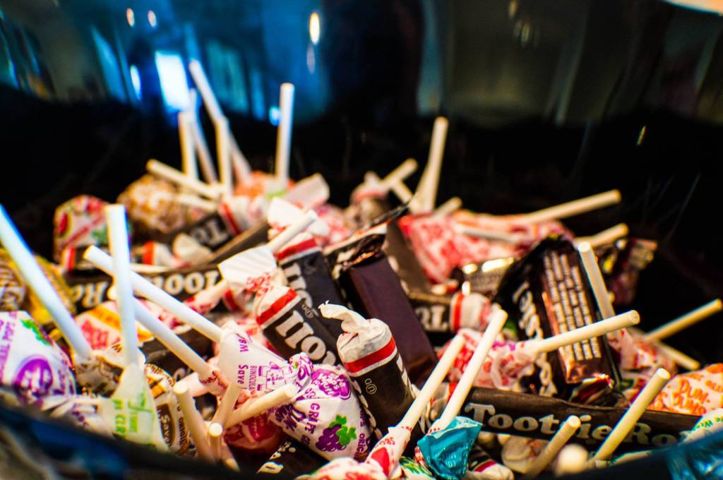 Halloween treats for trickster kids. A spanner in the works for good dental health